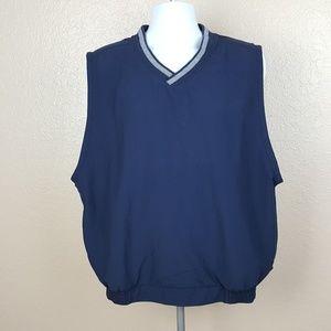 Nike Golf Men's Vest Size Large Blue Zip Pockets F